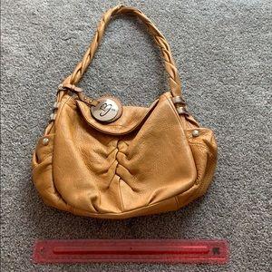 B. makowsky golden tan shoulder bag